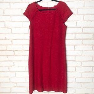 St John Red Wool Blend Knit Dress Sz 12